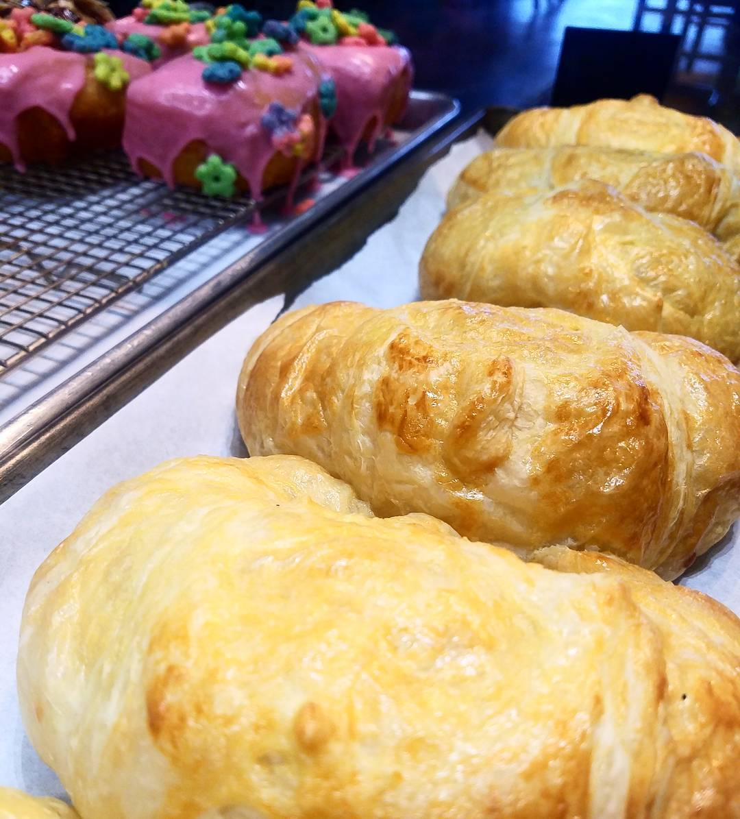 Croissant Fresh Hot Baked Pastry OKC French Flaky Food Tasty Chocolate Rich Almond Fluffy Sandwich Espresso