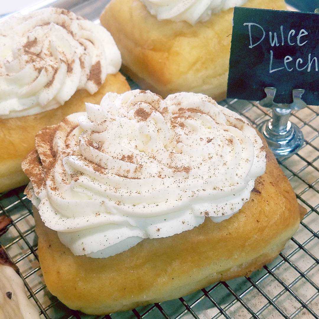 Dulcet de Leche filled Doughnut Topped w