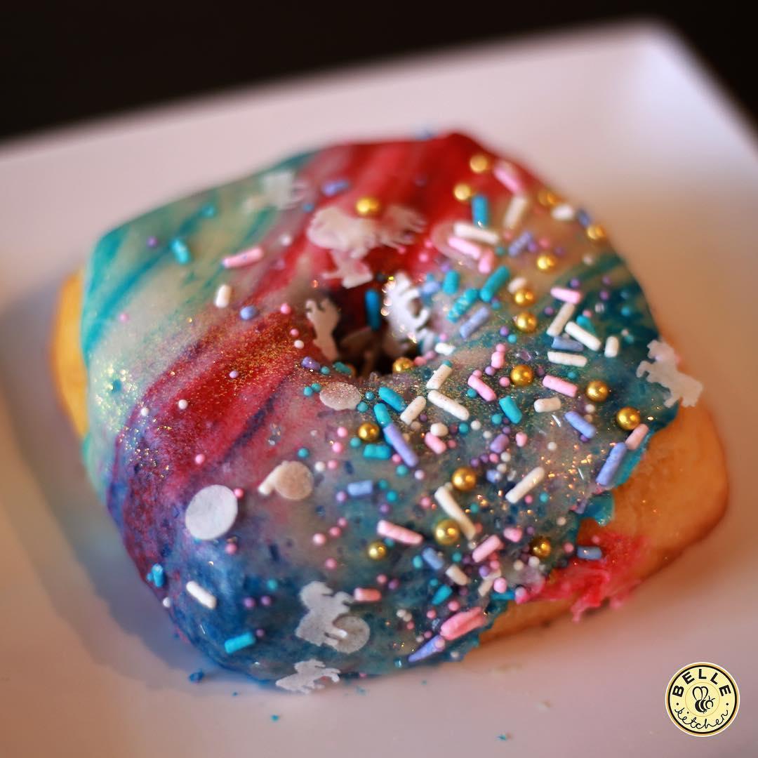 Unicorn sparkle doughnuts are incredible