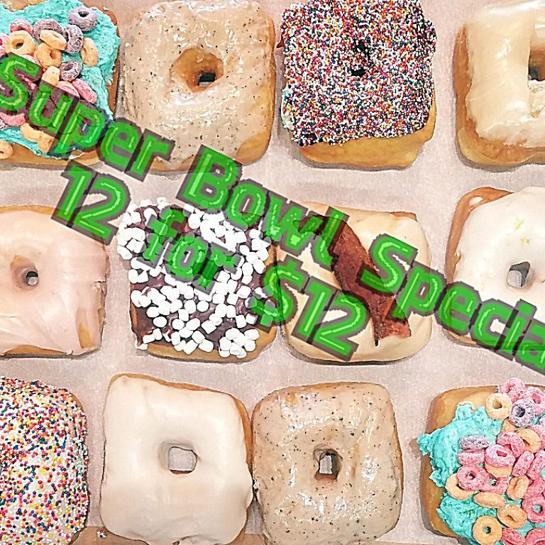 Super bowl Doughnuts – 12 for $12!