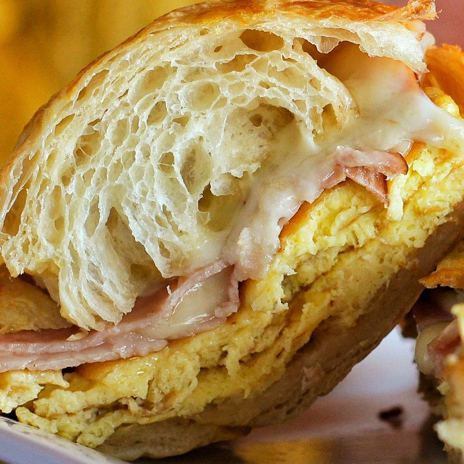 Your Breakfast. Croissant. Egg. Cheese.